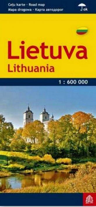 Litwa mapa samochodowa 1:600 000 - okładka książki