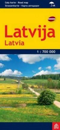 Łotwa plan miasta 1:700 000 - okładka książki