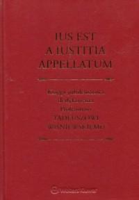 Lus est a iustitia appellatum. - okładka książki