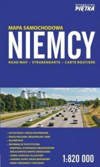 Niemcy mapa samochodowa 1:820 000 - okładka książki