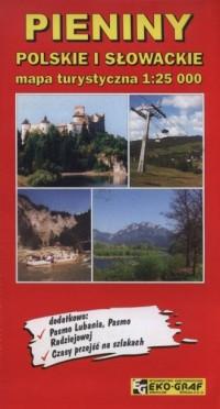 Pieniny Polskie i Słowackie mapa turystyczna 1:25 000 - okładka książki