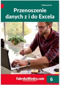 Przenoszenie danych z i do Excela - okładka książki