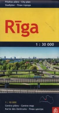 Ryga plan miasta 1: 30 000 - okładka książki