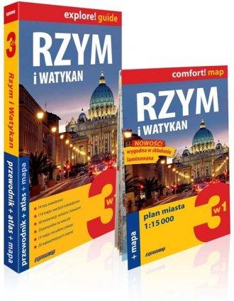 Rzym i Watykan explore! Guide 3w1: - okładka książki