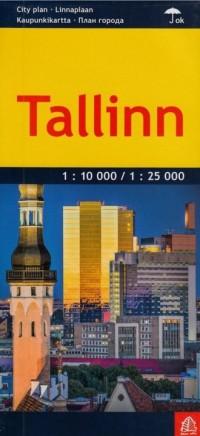 Tallinn plan miasta 1:25 000 / 1:10 000 - okładka książki