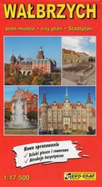 Wałbrzych plan miasta 1:17 500 - okładka książki