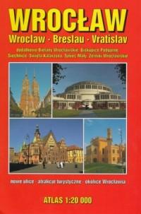 Wrocław atlas 1:20 000 - okładka książki