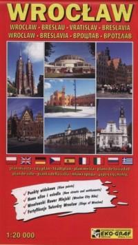 Wrocław plan miasta 1:20 000 - okładka książki