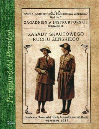 Zasady skautowego ruchu żeńskiego. - okładka książki