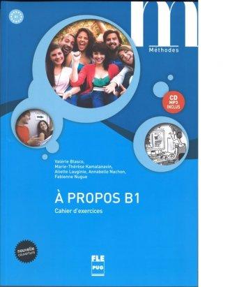 A propos B1 (ćwiczenia + CD MP3) - okładka podręcznika