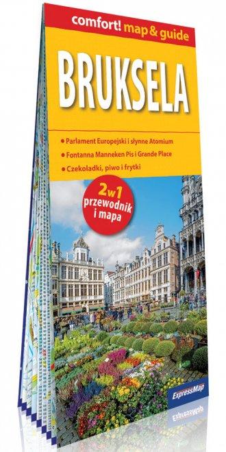 Bruksela comfort! map&guide. 2w1: - okładka książki