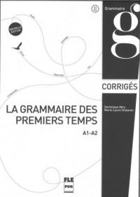 Grammaire des premiers temps klucz poziom A1-A2 - okładka podręcznika