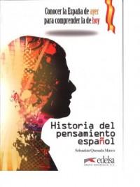 Historia del pensamiento espanol - okładka książki
