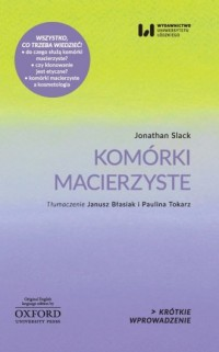 Komórki macierzyste - okładka książki