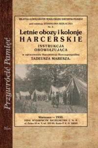 Letnie obozy i kolonie harcerskie. - okładka książki