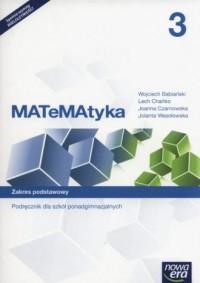 Matematyka 3. Podręcznik. Zakres - okładka podręcznika