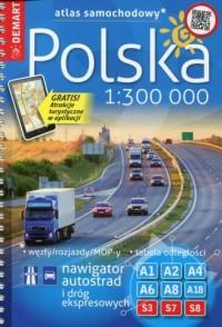 Polska atlas samochodowy 1:300 000 - okładka książki