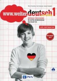 www.weiter deutsch 1. Szkoła podstawowa. - okładka podręcznika