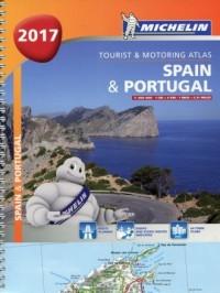 Atlas Hiszpania Portugalia 1:400 000 - okładka książki