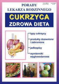 Cukrzyca. Zdrowa dieta. Porady - okładka książki