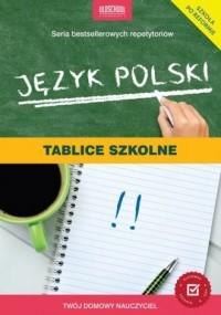 Język polski. Tablice szkolne - okładka podręcznika