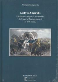Listy z Ameryki. Z dziejów emigracji - okładka książki