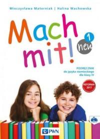 Mach mit! neu 1. Szkoła podstawowa. Podręcznik do języka niemieckiego dla klasy IV (+ CD) - okładka podręcznika