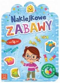 Naklejkowe zabawy od 4 lat. Łamigłówki dla przedszkolaka - okładka podręcznika