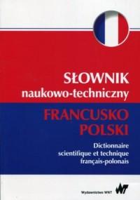 Słownik naukowo-techniczny francusko-polski - okładka książki
