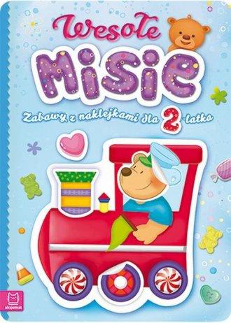 Wesołe misie Zabawy z naklejkami - okładka książki