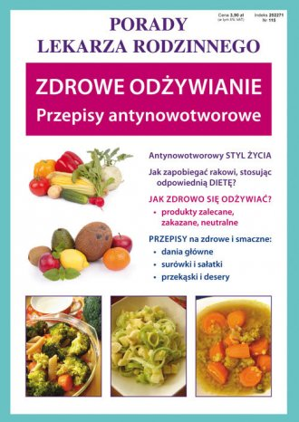 Zdrowe odżywianie. Przepisy antynowotworowe. - okładka książki