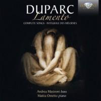 Duparc: Lamento, Complete Songs - okładka płyty