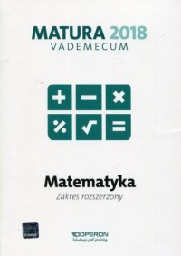 Matura 2018. Matematyka. Vademecum. - okładka podręcznika
