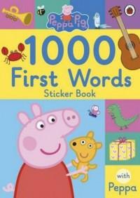 Peppa Pig 1000 First Words Sticker Book - okładka książki