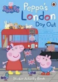 Peppas London Day Out Sticker Activity Book - okładka książki