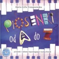 Piosenki od A do Z. Piosenki i zabawy wspomagające naukę literek (książka + CD) - okładka książki