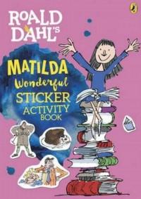 Roald Dahls Matilda Wonderful Sticker Activity Book - okładka książki