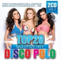 Top 20 Najlepsze Hity Disco Polo Vol.2  2CD - okładka płyty