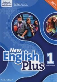 New English Plus 1. Gimnazjum. Podręcznik z repetytorium CD - okładka podręcznika