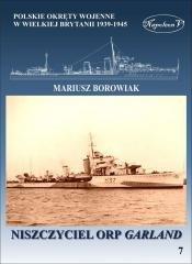 Niszczyciel ORP Garland - okładka książki