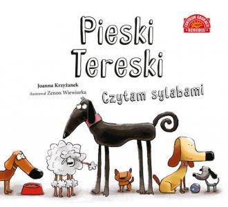 Pieski Tereski. Czytam sylabami - okładka książki