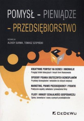 Pomysł - pieniądze - przedsiębiorstwo - okładka książki