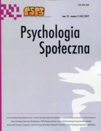 Psychologia Społeczna tom 12 nr - okładka książki