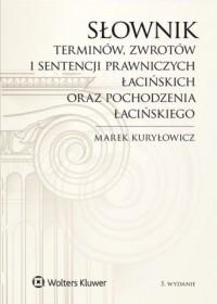 Słownik terminów zwrotów i sentencji - okładka książki