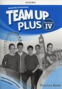 Team Up Plus 4 . Szkoła podstawowa. Materiały ćwiczeniowe +Online - okładka podręcznika