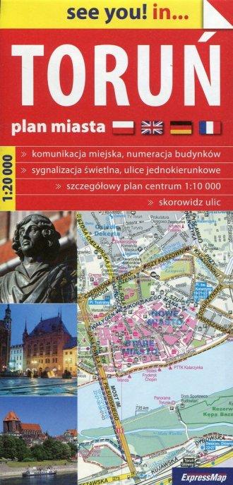 Toruń plan miasta 1:20 000 - okładka książki