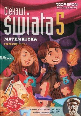 Ciekawi świata. Matematyka 5. Szkoła - okładka podręcznika
