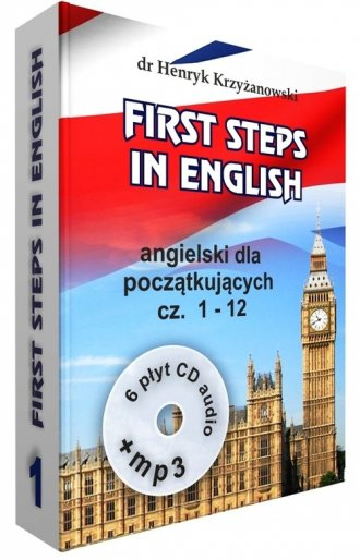 First Steps in English 1 +6CD+MP3. - okładka podręcznika