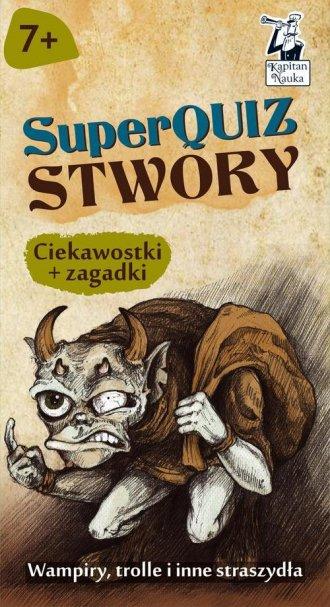 Kapitan Nauka SuperQuiz Stwory - okładka książki