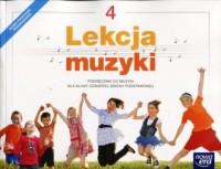 Lekcja muzyki 4. Szkoła podstawowa. Podręcznik - okładka podręcznika